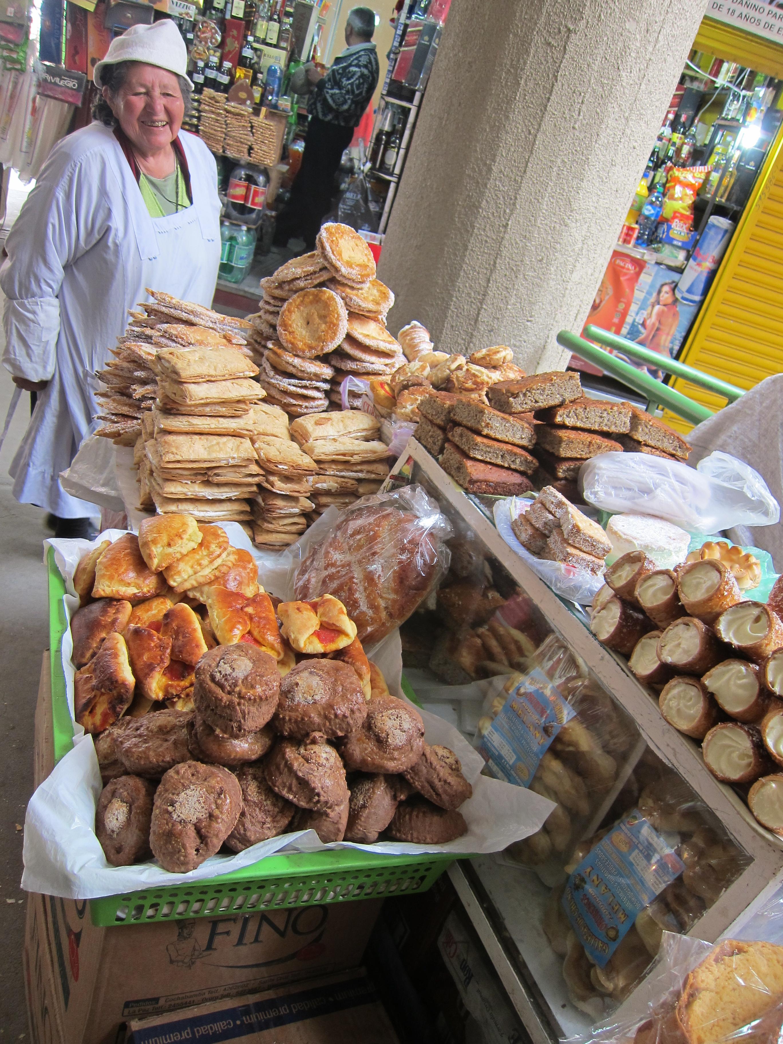 La Paz market - yummy!