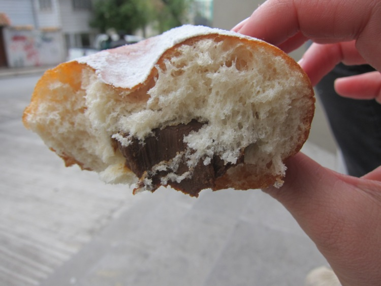 "German ""Berliner"" with Dulce de Leche."