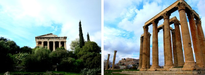 Ancient Agora and Temple of Olympian Zeus.