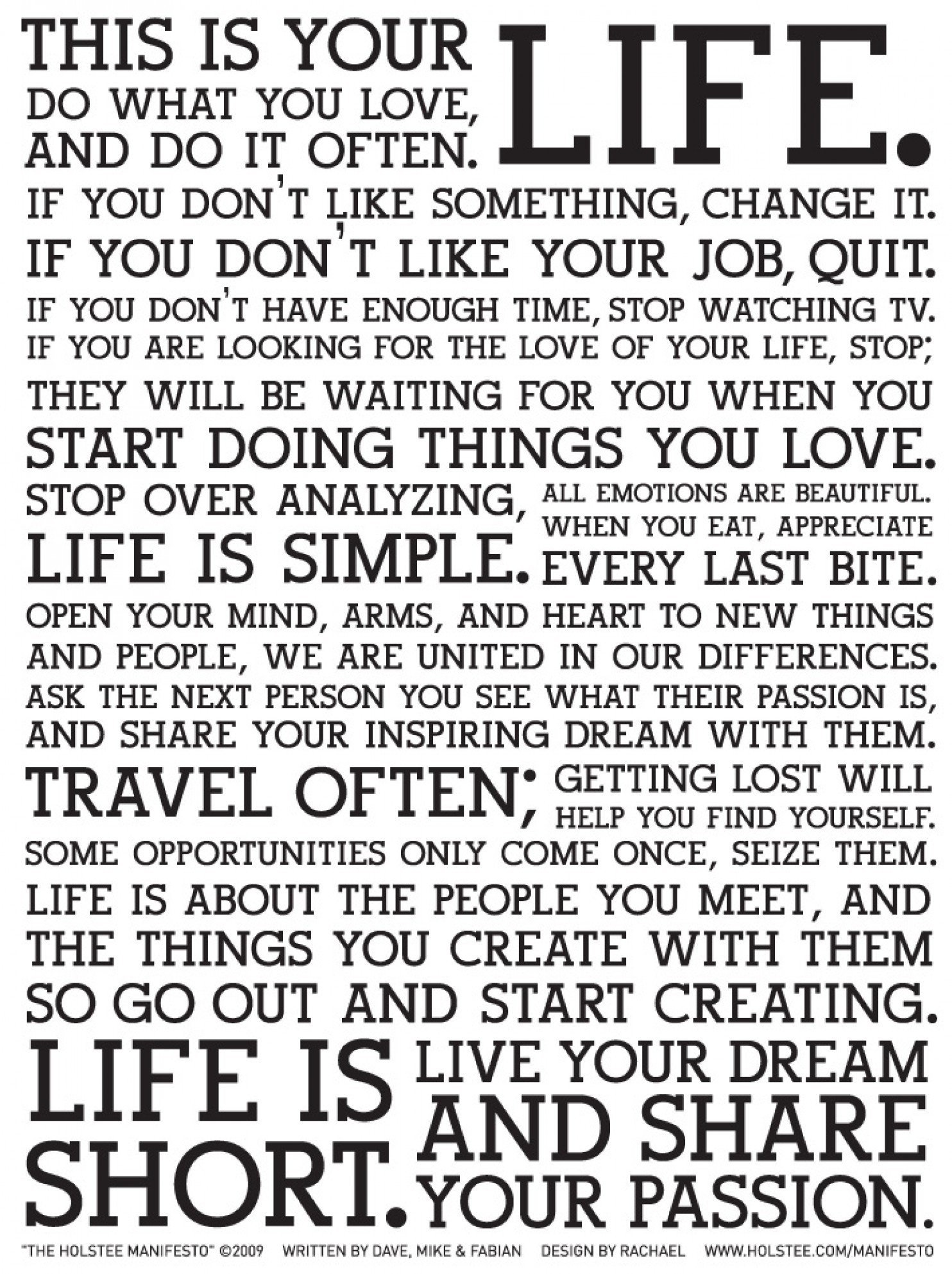 the holstee manifesto on wanderlust. Black Bedroom Furniture Sets. Home Design Ideas